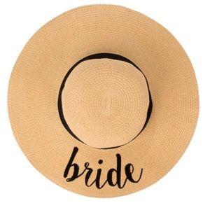 NWT Bride Floppy Beach Hat